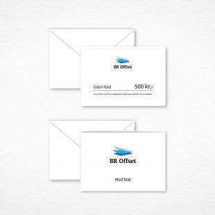 Bestil personaliserede gavekort med tryk