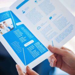 Trykte foldere og brochure er perfekte til at være kreativ