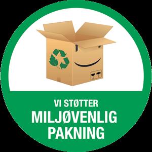 Vi støttter Miljøvenlig pakning