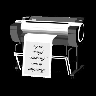 Vi er et trykkeri af høj kvalitet der leverer kvalitetstryk