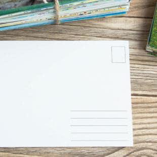 Postkort med og uden logo trykkes hos os i høj kvalitet
