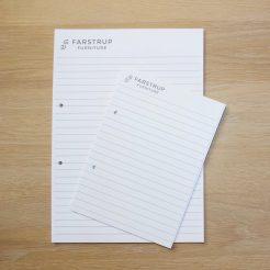 Få trykt unikke skriveblokke med dit firmalogo