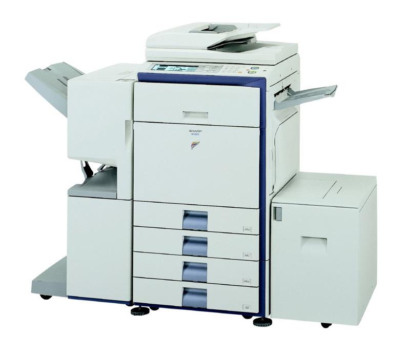 sharp-mx-2300n bruger vi til at trykke basiske og små tryksager